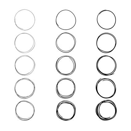 Filas de círculos